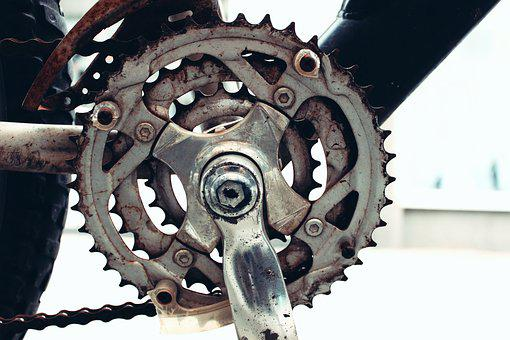 Gear, Bike, Bicycle, Equipment, Chain, Retro, Metal
