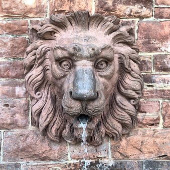 Lion, Fountain, Water, S, Statue, Figure, Lion Fountain