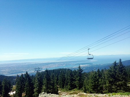 Vancouver, Mt Seymore, Mountain, Ski Lift, Summer