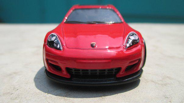 Car, Toy, Sunny, Porche, Red, Toy Car, Supercar