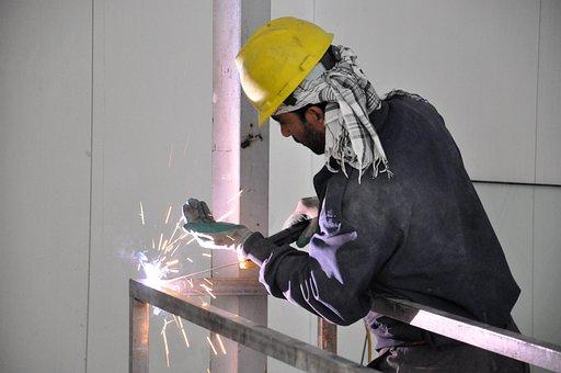Workers, Weld, Welder, Work, Industry, Metalworking