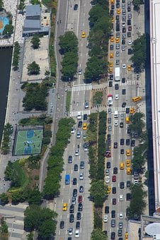 New York, Street, Taxi, Yellow, Traffic, Traffic Jam