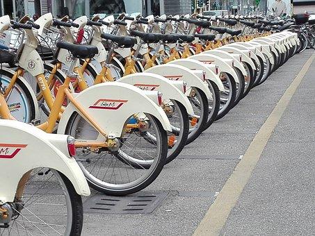 Milan Bike, Bikemi, Spring, Bicycles, Bike Sharing