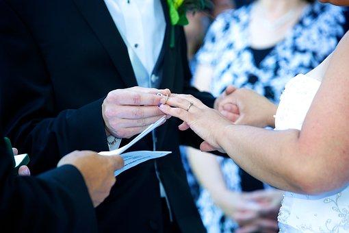 Vows, Wedding, Ring, Married, Bride, Groom, Love
