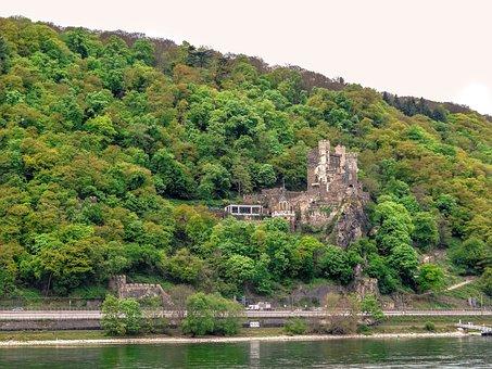Castle Rhine Stone, Castle, Rhine, Rhine Stone, Germany