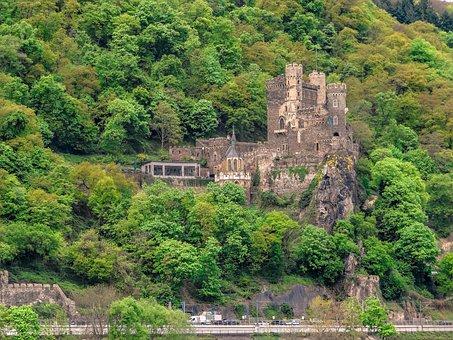 Castle Rhine Stone, Castle, Sachsen, Rhine