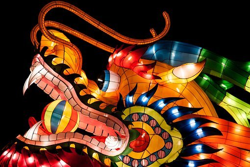 Dragon, Chinalight, Sculpture, Art, China, Festival