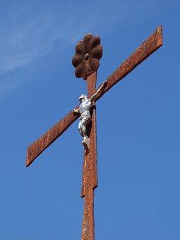 Crucifix, Sky, Rusty, Religiosity, Christianity, Symbol