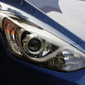 Floodlight, Auto, Lights On In The Car, Detail