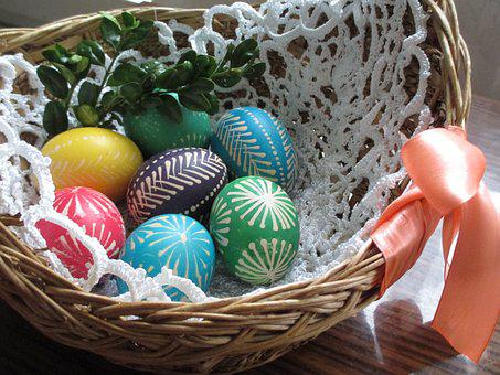 Easter Basket, Easter, święconka, Easter Eggs