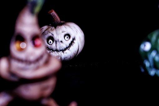Pumpkin, Miniature, Figure, Smile, Small