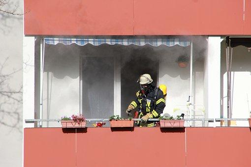 Fire, Use, Brand, Apartment, Delete, Fire Fighter