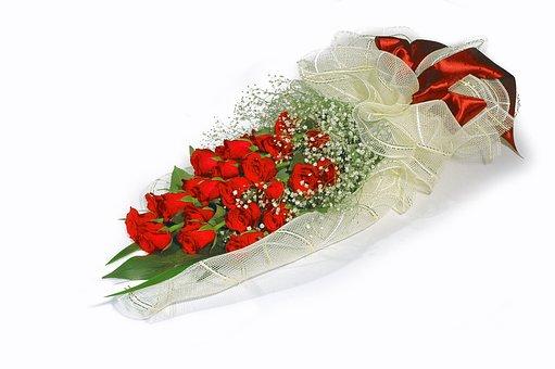 Wreath, Graduation, Ribbon, Gypsophila Elegans, Flowers