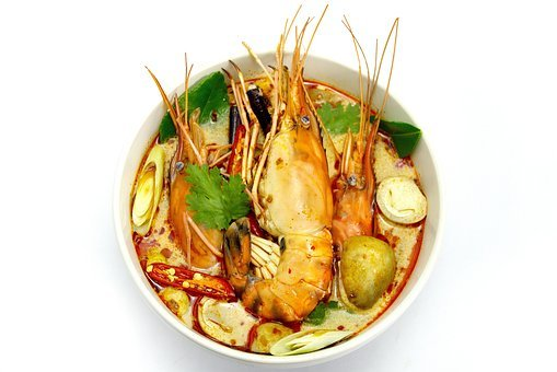 Tom Yum Goong, Hot And Sour Soup, Shrimp, Dish, Food