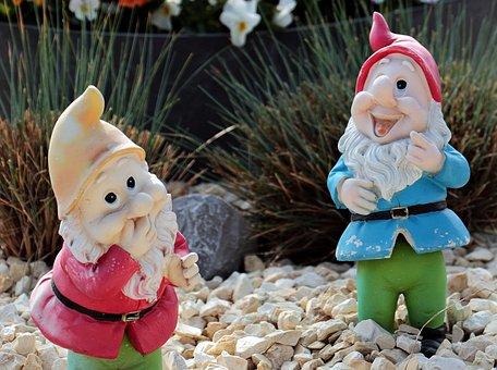 Garden Gnomes, Dwarfs, Decoration, Figures, Imp, Deco