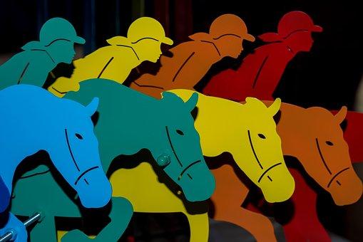 Horses, Jockeys, Jockey, Horse, Museum, Colors, Rainbow