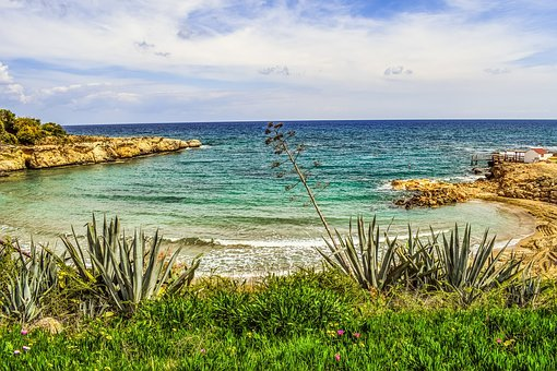 Beach, Sea, Bay, Landscape, Mediterranean, Vegetation