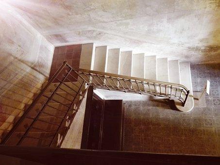 Stairs, Castle, Padernello, Brescia, Lombardy