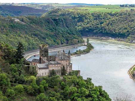 Burg Katz, Castle, Rhine, Loreley, Outlook