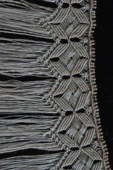 Folk, Manual Work, Fringe, Sárközi, Sewing, White