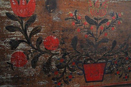 Sárközi, Traditional, Old, Background, Texture, Color