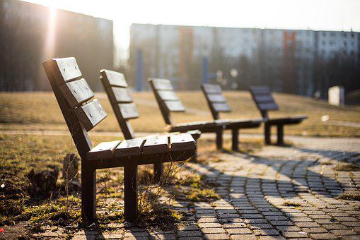 Bench, Chairs, Outdoors, Park