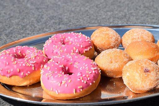 Donut, Berlin, Mini Berlin, Pink Donuts, Pastries