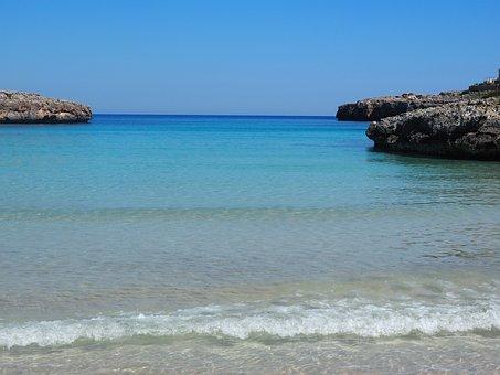 Porto Colom, Mallorca, Bay, Sea Water, Blue