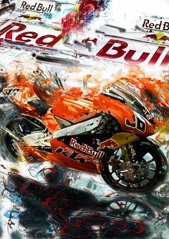 Red Bull, Moto Bike, Fast, Cool, Race, Action, Wheels