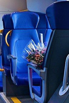 Train, Elektrichka, Naples, Roses, Blue, Armchair