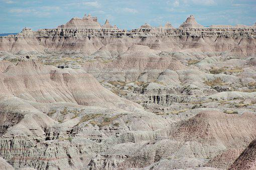 Badlands, South Dakota, National, Landscape, Scenic