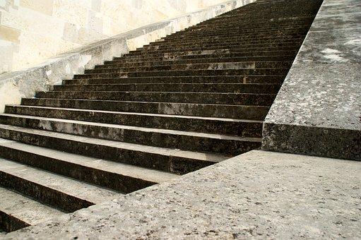 Stairs, Stone, Upward, Gradually, Staircase