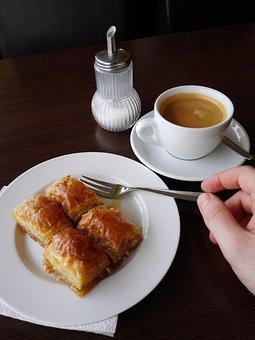 Baklava, Coffee Pieces, Coffee, Cake, Sweet, Pastries