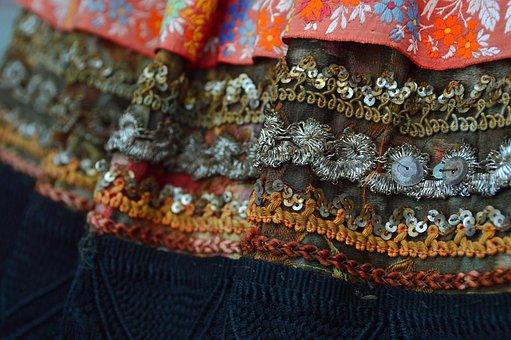 Sample, Sárközi, Homespun, Textile, Folk, Color