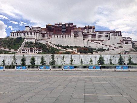 Tibet, The Potala Palace, Square, Positive