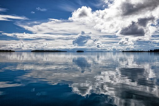 Tropical Sea, Cloud, Reflection, Blue, Kojima