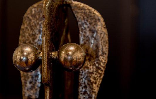 Iron, Sculpture, Mask, Welding, Statue, Face, Monster