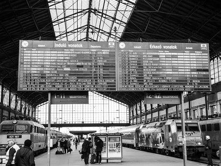 Budapest, Train Station, Western Railway Station, Train