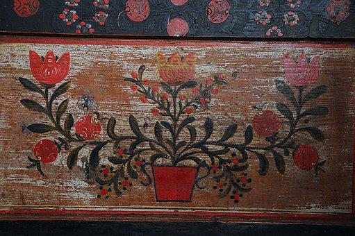 Sárközi, Box, Design, Flowers, Wooden Box, Folk