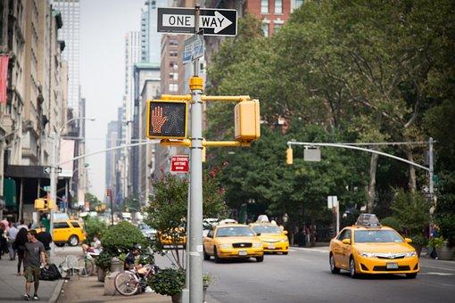 New York, Yellow Cab, Cab, City, Oneway, Travel