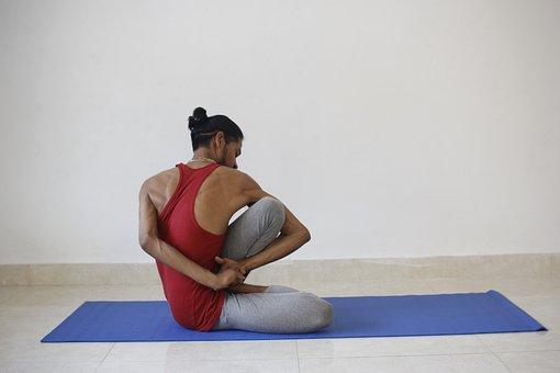 Yoga, Yogi, Men, Exercise, Sport, Asana, Pose, Health