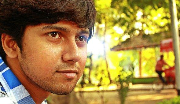 Man, Indian, Park, Face, Close Up, Portrait, Young