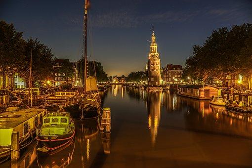 Amsterdam, Boot, Haafen, Water, Netherlands, Ship