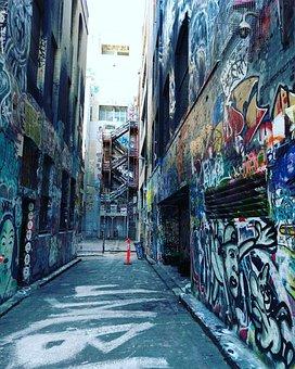 Wall Art, Melbourne City, Melbourne Cbd, Australia