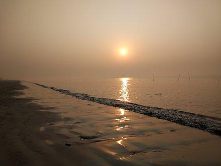 Beach, Sunset, Sun, Sunset Beach, Sea, Sky, Water