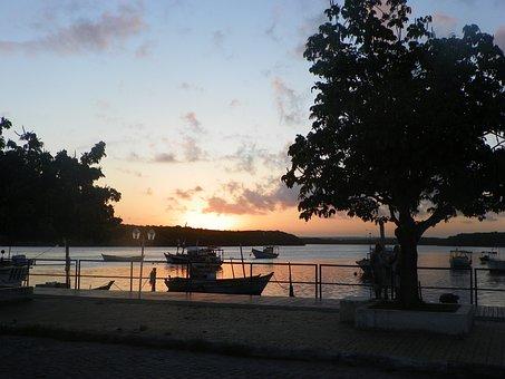 Pôr Do Sol, Porto Seguro, Bahia, Brasil, Sunset