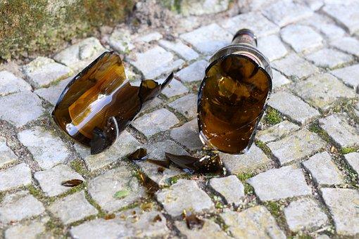 Bottle, Shard, Broken Glass, Broken, Destroyed