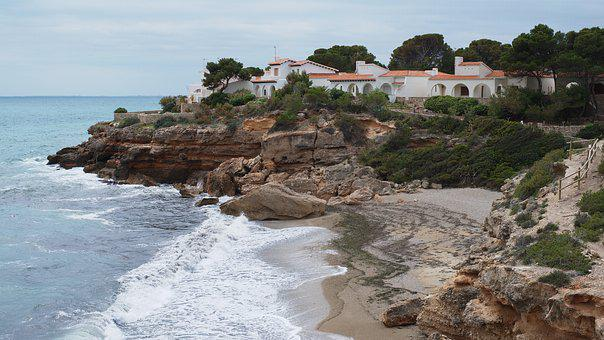 Spain, Catalonia, Mediterranean, Coastline, Villa