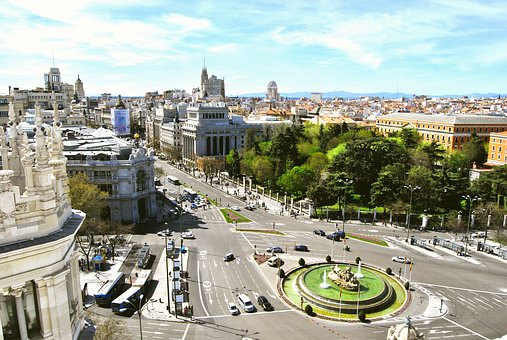 Madrid, Cibeles, Great Way, Bank Of Spain, City