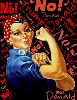 Trump, No, Defiance, Liberation, Woman, Female, Power